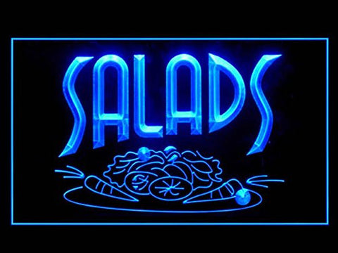 Salads Vegetable Bar Cafe Open Restaurant Food Led Light Sign