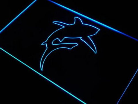 Shark Great White Ocean Gift Bar Neon Light Sign