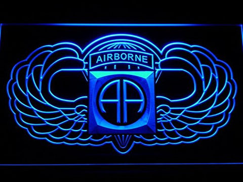 82nd Airborne Wings Army Neon Sign (Man Cave. F184-B. LED. Light)