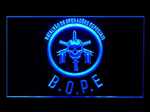 Tropa De Elite Bope (Pattern 2) Bar Hub Advertising LED Light Sign J888B