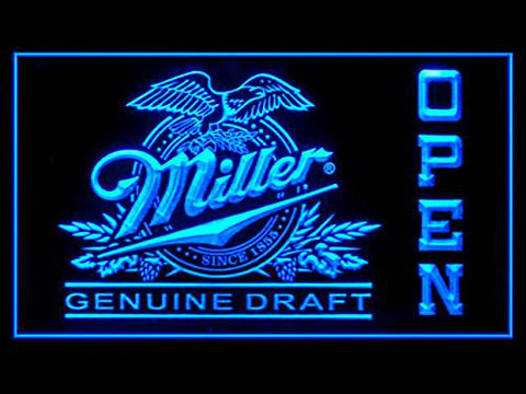 Miller Genuine Draft Open Sign (Beer. Drink. LED. Light)