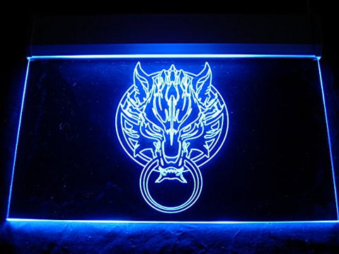 Final Fantasy Cloudy Wolf Neon Sign (LED. Light)