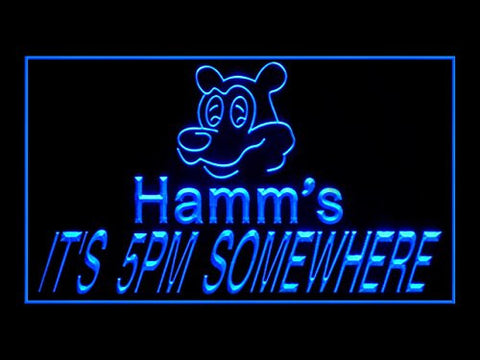 Hamm's Beer IT'S 5PM Somewhere Pub Bar Advertising LED Light Sign Y054B