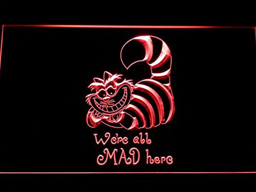 The Cheshire Cat Alice in Wonderland Neon Sign (LED. Man Cave. G200-R)