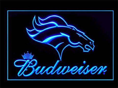 Denver Broncos Budweiser Neon Sign (LED. Light)