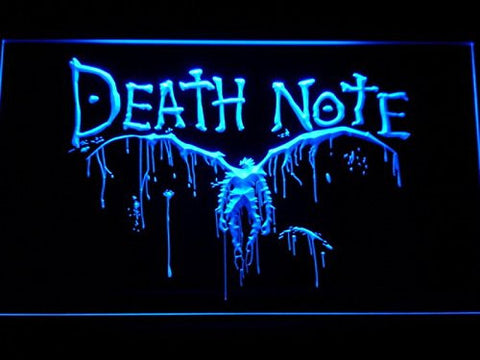 Death Note Notebook Cosplay LED Neon Light Sign Man Cave G175-B
