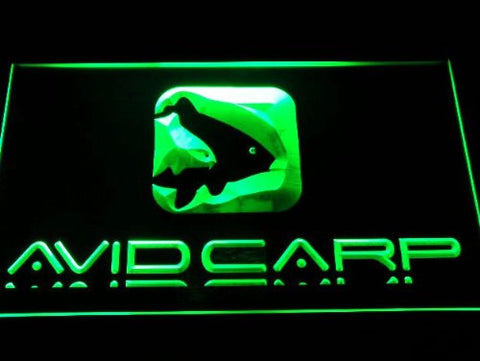 Avid Carp Fishing Neon Sign (Logo. D247-y. Light. LED)