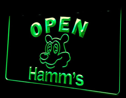 NL251 Hamm's Beer OPEN Bar Neon Light Signs (green)