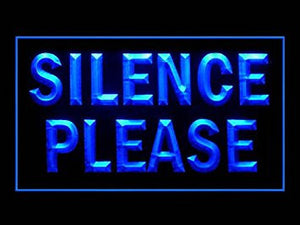 Please Silence Quiet Silent Led Light Sign
