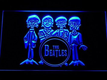 The Beatles Drum Band Bar LED Neon Light Sign Man Cave C167-B