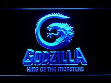 Godzilla King of the Monsters LED Neon Light Sign Man Cave G227-B
