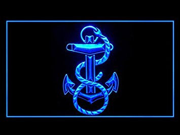 US Navy Marine Neon Sign (Bar. LED. Light)