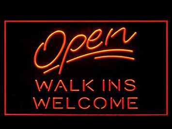 Open Walk Ins Welcome Barber Shop Store Led Light Sign