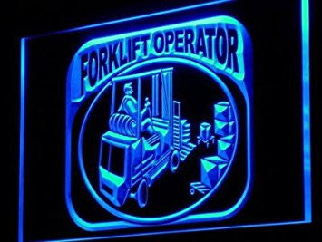 j216-b Forklift Operator Machine Neon Light Sign
