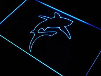 ADV PRO j423-b SHARK GREAT WHITE Ocean Gift Bar Neon Light Sign