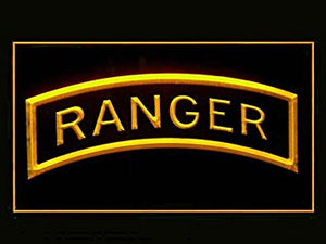 US Army Rangers Neon Sign (Bar. LED. Light)