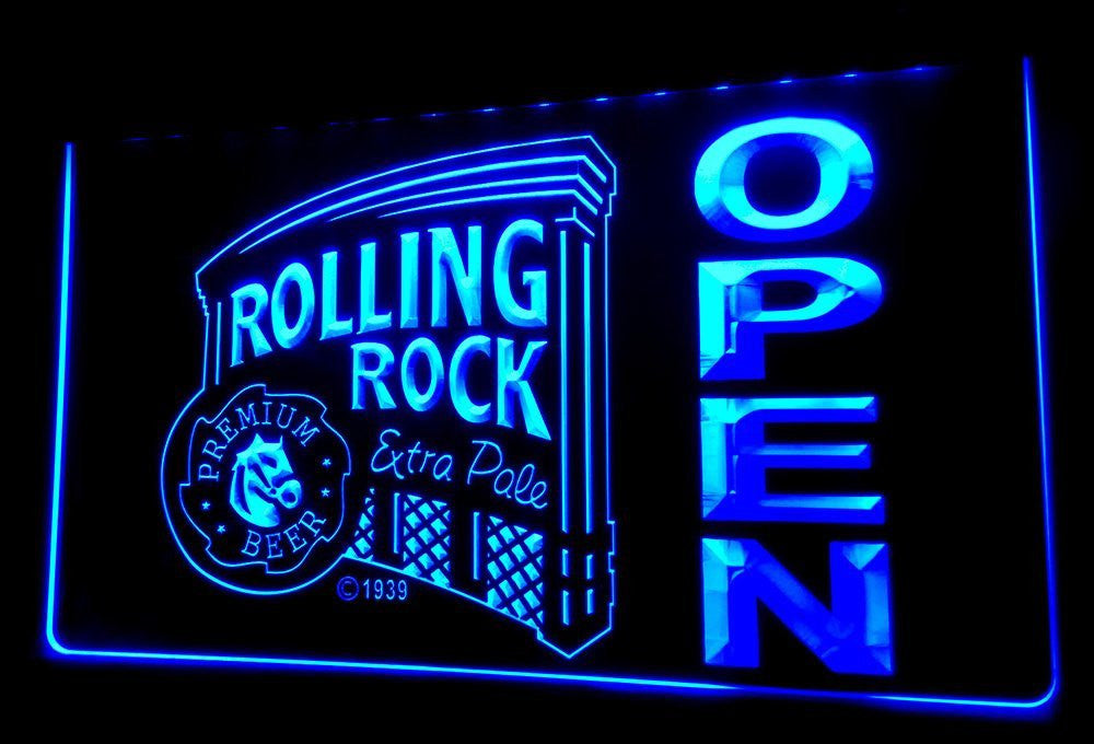 Rolling Rock OPEN Neon Sign (Light. Bar. LED. NL438 )