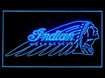 Indian Motorcycle Neon Sign (Ride. Bar. Pub. LED. Light)