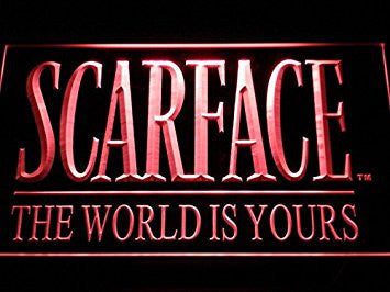 Scarface The World is Yours Neon Sign (LED. Man Cave. C111-R)