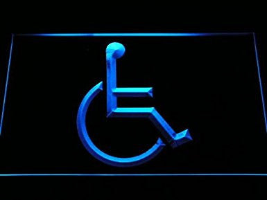 Disabled Wheelchair Handicap LED Sign Neon Light Sign Display