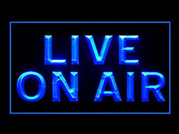Live On Air Neon Sign (Studio. Recording. Display. LED. Light)