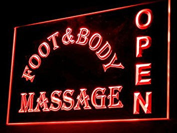 Foot & Body Massage Open Shop Led Light Sign