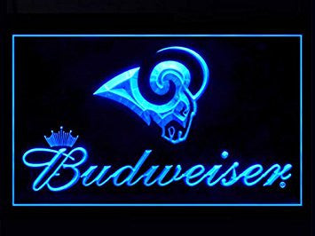 Los Angeles Rams Budweiser Neon Sign (LED. Light. LA)