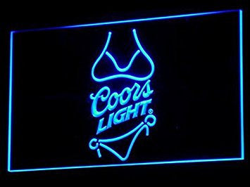 Coors Light Beer. Bikini. Neon Sign (Bar. Pub. LED. Man Cave. A119-B)