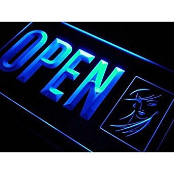 BuW OPEN Beauty Salon Display Lady Neon Light Sign. led lights for home prett...