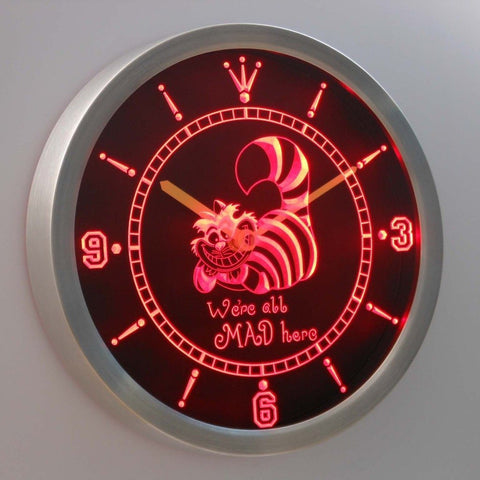 The Cheshire Cat Alice in Wonderland 3D Neon Sign LED Wall Clock NC0234-R