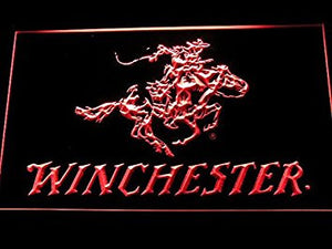 Winchester Neon Sign (Firearms. Gun. LED. Man Cave. D243-R)
