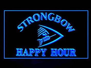 Strongbow Cider Happy Hour Neon Sign (Drink. LED. Light)