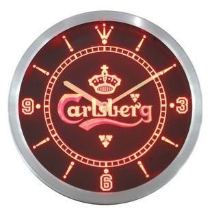 Carlsberg Beer Bar Pub Neon Sign LED Wall Clock