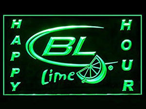 Bud Light Lime Happy Hour Neon Sign (Beer. Drink. LED. Light)