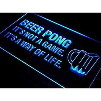 BuW Beer Pong A Way of Life Bar Beer Neon Light Sign. lighting direct cool ni...
