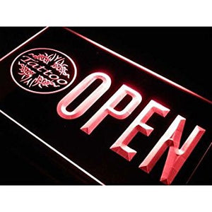 BuW OPEN Tattoo Art Shop Body Bar Neon Light Sign. led lights for home pretty...