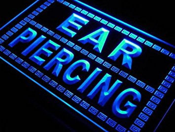 Ear Piercing Body Tattoo Shop Neon Light Sign