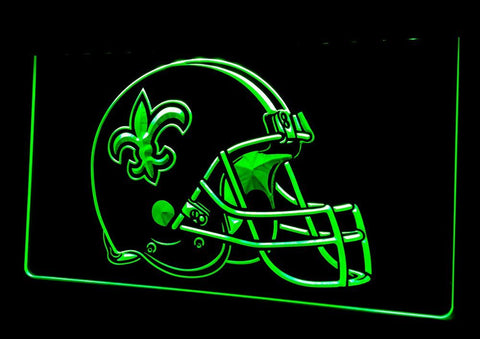 New Orleans Saints Helmet Neon Sign (Beer. Light. LED. NL406)