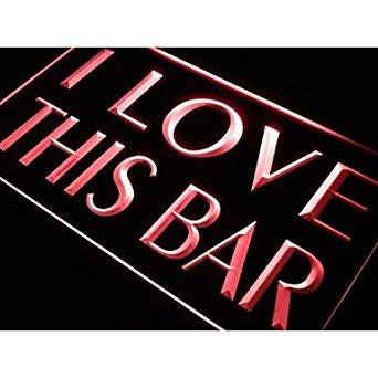 BuW I Love This Bar Pub Beer Gift Neon Light Sign. led flood lights princess ...