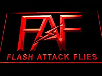 FAF Neon Sign (Flash Attack Flies Fishing. Logo. Light. D258-r. LED)