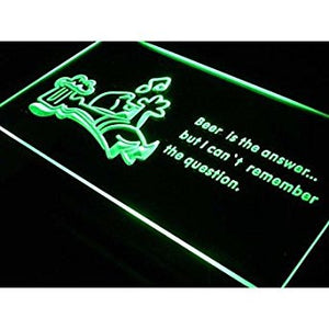 BuW Beer is the Answer Get Drunk Bar Neon Light Sign. lighting direct cool ni...