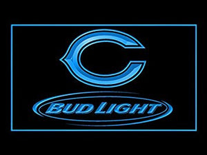 Bud Light Chicago Bears Neon Sign (LED. Light)
