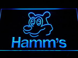 NL059 Hamm's Beer Bear Head Bar NEW Neon Light Signs
