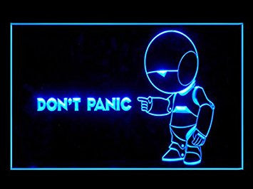 Hitchhiker's Guide To The Galaxy (Pattern 2) Advertising LED Light Sign J822B