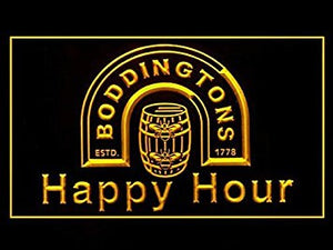 Boddingtons Beer Happy Hour Drink Led Light Sign