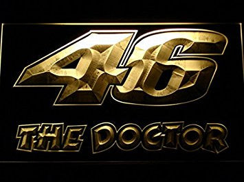 Valentino Rossi 46 The Doctor Neon Sign (Light. Man Cave. B542-B. LED)