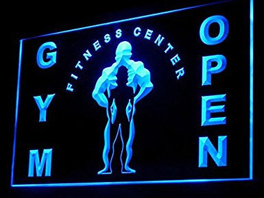 C B Signs Fitness Center Gym Open Sign LED Neon Light Display