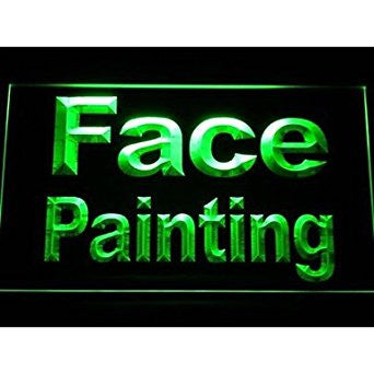 BuW Face Painting Neon Light Sign. lighting direct star night light holiday n...