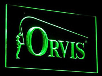 Orvis Fly Fishing Neon Sign (Light. Fish. Rod. Reed. LED. Man Cave. B195-G)