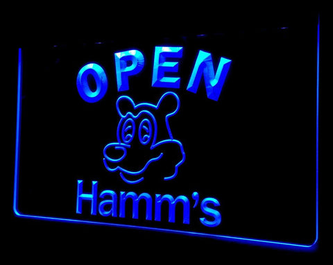 NL251 Hamm's Beer OPEN Bar Neon Light Signs (blue)